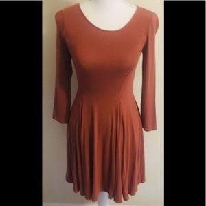 Burnt Orange Dress Forever 21 Sz Small New